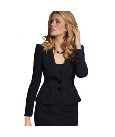 High Quality Spring Autumn Women Blazer Long Sleeve Turn Down Collar Wear to Work Business Office Womens Tops Outwear Jacket...