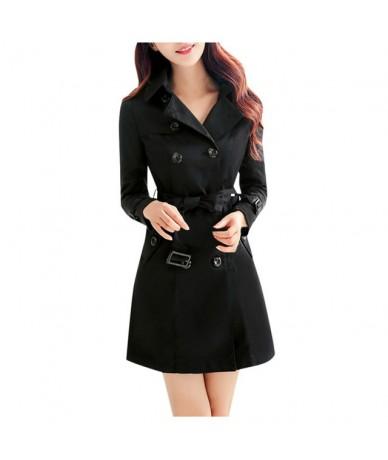 Coat Women Slim Windbreaker Double Breasted Long Trench Coat Jacket Overcoat Outwear Abrigos Mujer Invierno 2019 Manteau Fem...