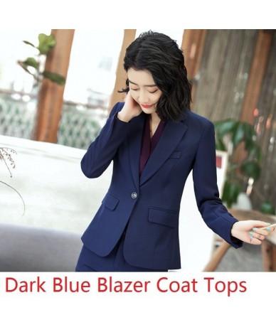 Fashion Elegant Wine Blazers & Jackets Ladies Formal Work Wear Business Tops Clothes Spring Fall Blazer Uniform Styles OL - ...