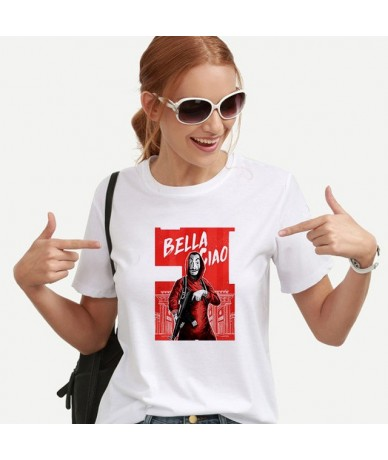 New Fashion T-shirts for Women Harajuku Tops Summer Short Sleeve Tees Great Wave T Shirt Women Blusa White Tees & Tops - Bei...