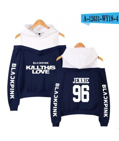 Blackpink Kill This Love Kpop Off Shoulder Hoodies Women Fashion Long Sleeve Hooded Sweatshirt 2019 Casual Streetwear Clothe...