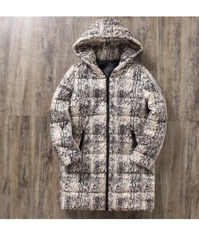 Leopard Snake Pattern Autumn Women's Winter Jackets Coats 2019 Casual Sexy Parkas Women Jackets Warm Outwear Coat Parka Fema...