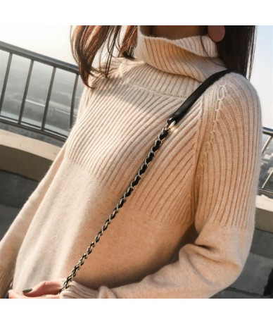 Winter Cashmere Wool Turtleneck Women Sweaters Spring New Warm Casual Thick Solid Pullover Knitted Jumper Lazy Style Female ...