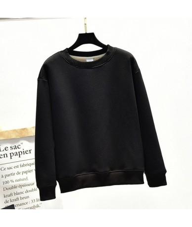 Winter New Pullover Sweatshirt Women Solid Color Lamb Velvet Padded Korean Loose Thick Velvet Warm Tide Mujer Hoodies MZ2099...