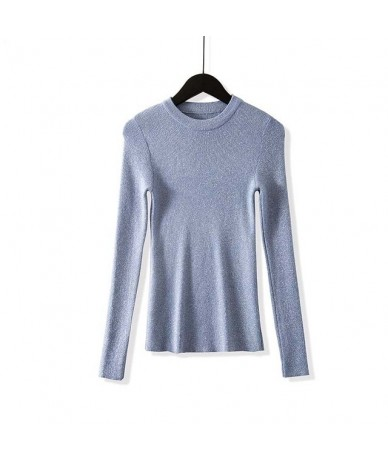 Shiny Lurex Autumn Winter Sweater Women Long Sleeve Pullover Women Basic Sweaters Women 2018 Korean Style Knit Tops Femme - ...