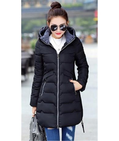 New Winter Jacket Women Cotton Long Jacket Fashion 2019 Padded Wadded Slim Plus Size 5XL 6XL 7XL Hooded Parkas Coat Female Z...