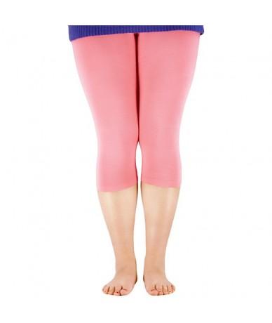 Plus Size Women's 3/4 length Leggings Bamboo Fiber Capri Legging High Stretchy Leggings Pants Basic Leggings - Optional 3 co...
