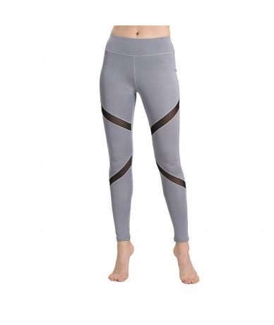 High Waist Sexy Leggings Mesh Design Pants Women Large Size Capris Spring Summer Sportswear Push Up Legging - Gray - 4T41158...