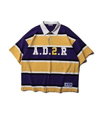 High New 2019 Unisex High Adererror Striped Fashion Casual Polo Shirts Shirt Skateboard Cotton Polos Top Tee S-2XL ST25 - 1 ...