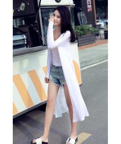 Cotton Women Summer Long Cardigan Long Sleeve Blouse Shirt Woman Sweater Casual Beach Poncho Clothing Blusas Plus Size Tops ...