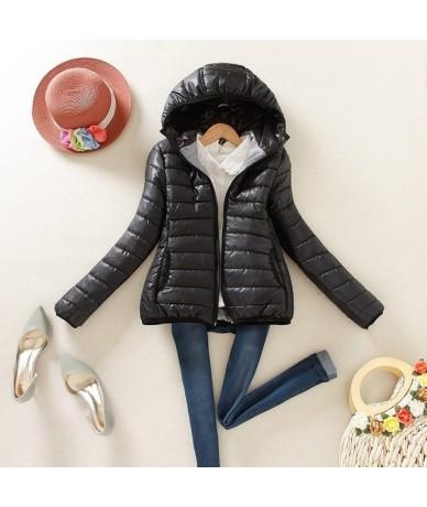 super warm spring and winter parka jacket coat ladies women winter jacket Slim Short padded women - Black - 4C3079589940-1