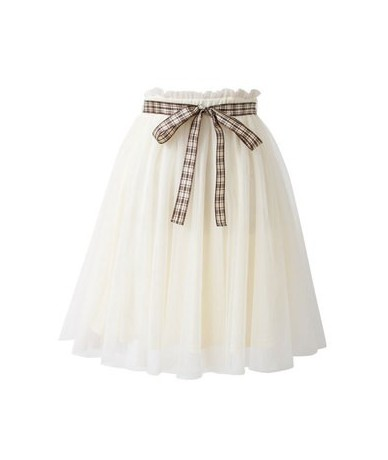 New summer Stylish Female Japan Women small fresh sweet gauze lace solid color skirt fashion trend casual tulle princess ski...
