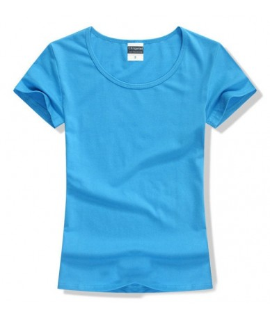 Women t-shirt Short Sleeve Cotton tee tops for women solid color O-neck summer tshirt brand clothing girl t shirt lycra clot...