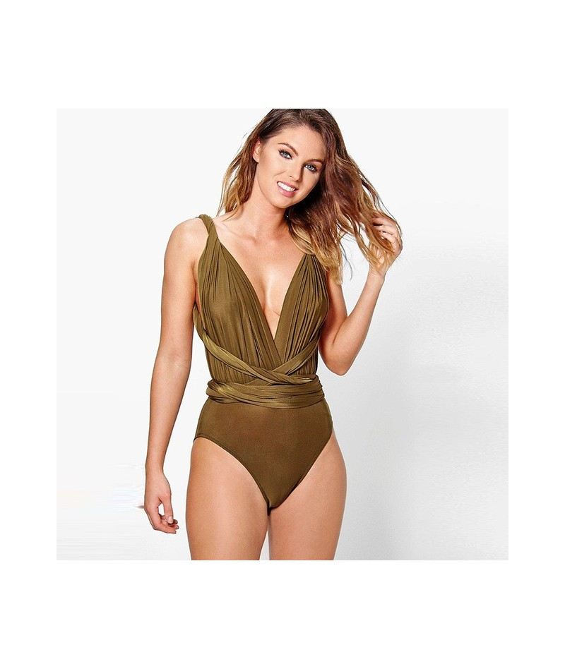 Multiway Bodysuits Sleeveless Skinny Infinity Playsuits Women Sexy Convertible Bohemian Jumpsuits Sheath Swimwear 2019 - YH0...