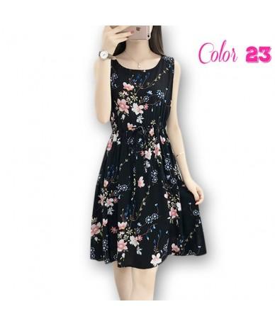 Women Bohemian Mini Dress 2019 Summer New Flower Printed Vintage Dresses Sleeveless Beach Boho Loose Plus Size M-3XL Mini Dr...