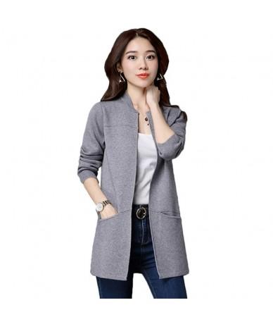 Spring Autumn Women Knit Sweater Cardigan Jacket Coat Loose Large Size Long Sweater Cardigan Female Shawl Outerwear Z49 - gr...
