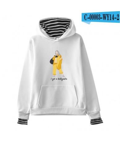 Billie Eilish Hoodies Women Casual New Arrival Hot Sale Sweatshirt Casual Girl Hoodies Printed sweatshirt pop - white - 4041...