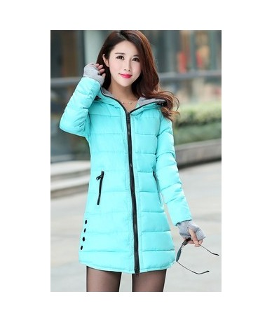 2019 new Han edition cultivate one's morality women autumn and winter fashion thickening cotton-padded jacket - light blue -...