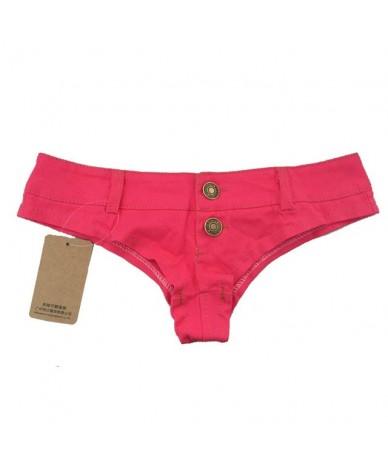 Sexy Jeans MINI Denim Shorts High Cut Bikini Hot Jean Short Double Button Low Rise Waist Shorts Exotic Culb Wear 5 Colours F...