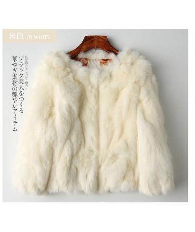 2019 100% genuine real rabbit fur jacket women natural fur coat short winter autumn female full sleeve Big size 3xl fur fabr...
