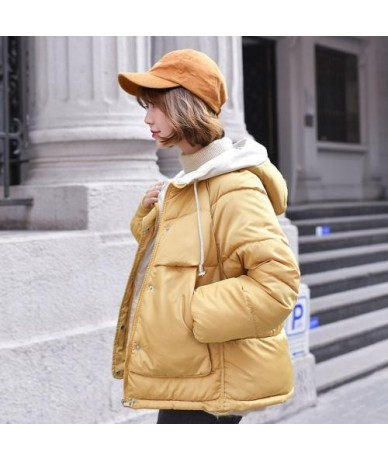 2019 Winter Coat Women Plus Size Loose Hooded Short Parkas Mujer Thickening Quilted Cotton Padded Warm Jacket Women Outwear ...
