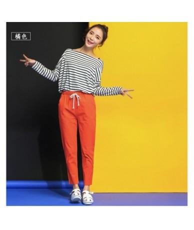 2019 Chic Leisure Cotton Linen Long Pants Women Elastic Waist Pockets Loose Pants Plus Size 2XL Casual Trousers Leisure Pant...