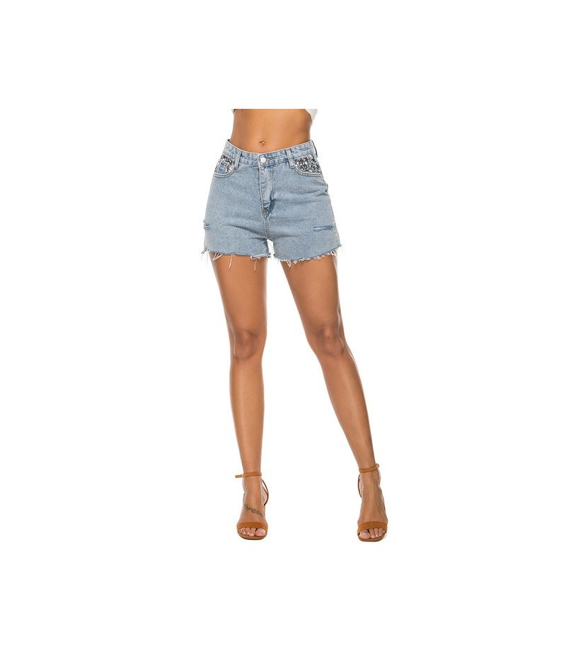 Women new джинсы женские Summer Short Jeans Female Pockets Wash Sequin Denim Shorts Ladies sexy sequined pocket denim s-xl 0...