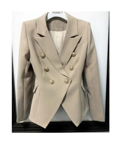 Green Blue Yellow Black White Blazer Women Office Formal Double Breasted Buttons Blazer Plus Big Size Women Blazers Drop Shi...