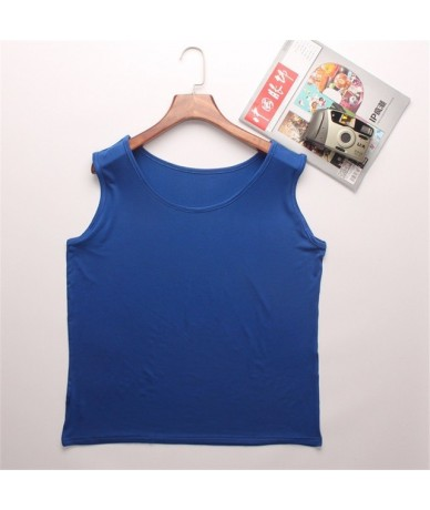 Women Big Size Tank Tops 2XL-6XL Modal Female Summer Solid Casual Vest Black Sleeveless Fitness Leisure Lady Camisoles Plus ...