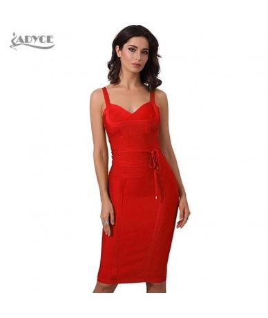 Women Summer Bandage Dress 2019 Sexy Celebrity Party Dress Nightclub Spaghetti Strap Bodycon Club Dress Vestidos - 2 - 42393...