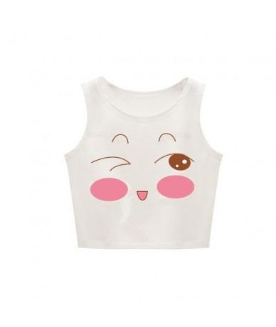 Women Vest Cute Cartoon Printing Sexy Sleeveless Bare Navel Design Vest Female Tops For Summer - naughty - 4A3001419877-1