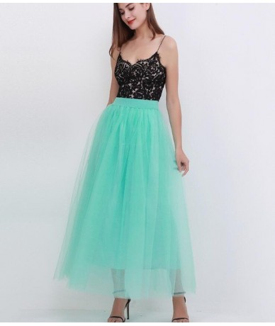 2019 New Arrival Puffy Maxi Skirt Tulle Skirt Long Elastic Womens High Waisted Skirts Petticoat Bridesmaid To Wedding Party ...