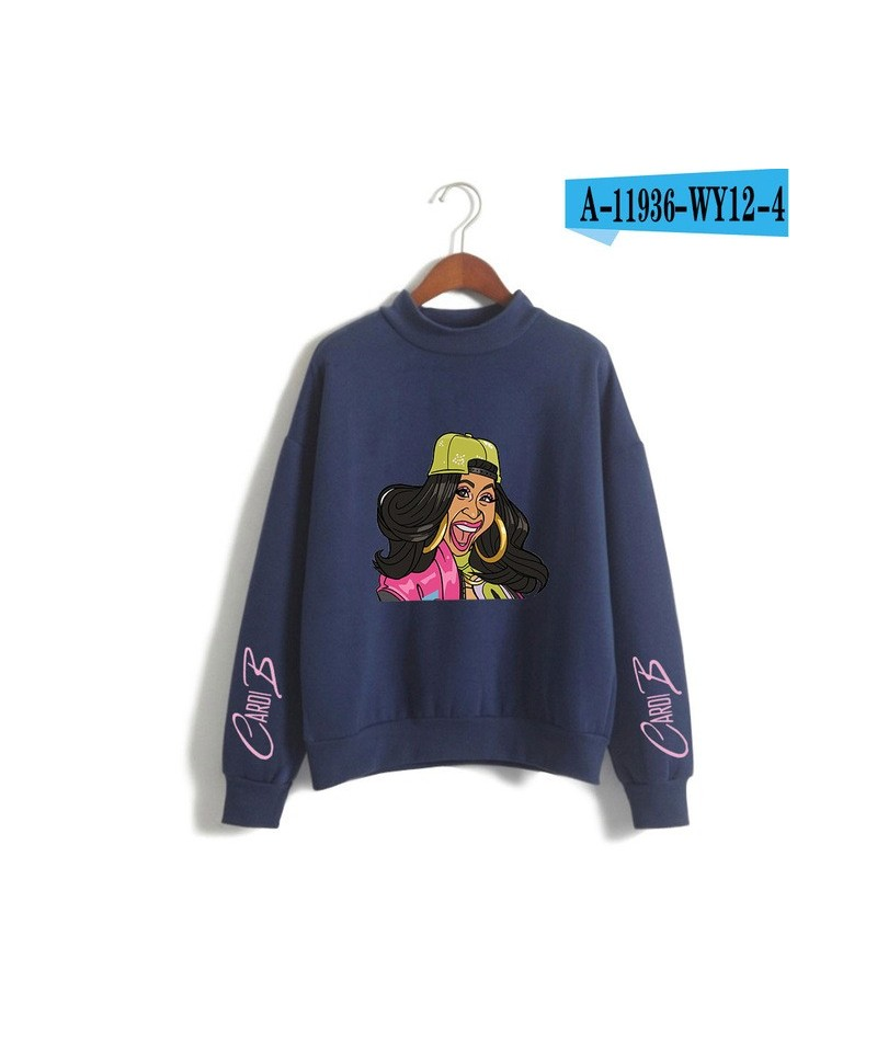 New Cardi B print comfortable high Street casual Turtleneck Sweatshirts High Quality cool kpopFashion Stylish Women Sweatshi...