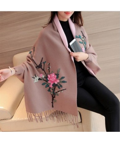 2019 Women's Sweaters For Winter Female Cardigan Leisure Long Sleeve Slim Thin Out jacket Long section Tops - Khaki - 403955...