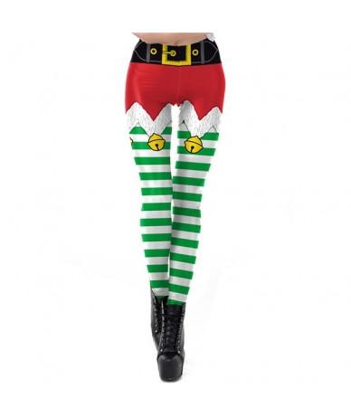 Christmas Belt Leggings Women Leggins Stripe Tribal Pocket Gift Autumn Winter Festival Legging Plus Size - SKDK078 - 4O30628...