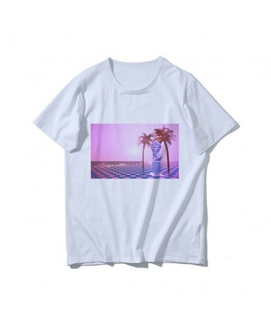 Harajuku Fun David Michelangelo Statue Print Summer New Fashion Casual Women's T-Shirt Tops - 12 - 433085352655-12