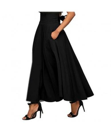 black cotton 2019 vintage high waist plus size summer saias casual loose maxi long skirt women skirts female streetwear clot...