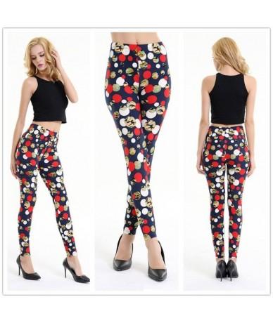 2019 New Floral patterned Printed Leggings Fashion Sexy Women Lady Slim elastic Pants Black white Vintage graffiti trousers ...