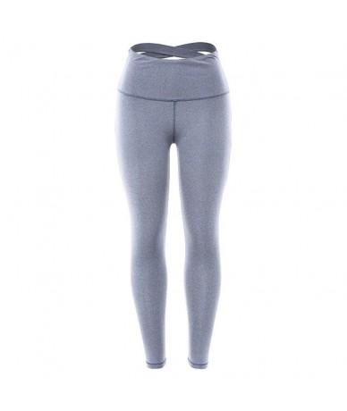 Push Up Fitness Women Leggings Activewear Workout Leggings Patchwork Jeggings Bodybuilding Female High waist Pants - Blue - ...
