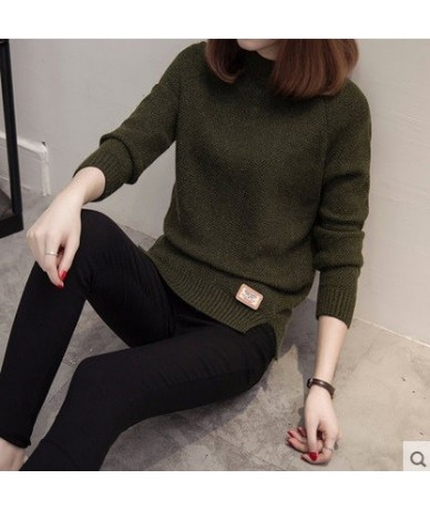 2019 New Female o-neck Sweater Women Knitted sweaters And Pullovers Long Sleeve Pull Femme Winter Cashmere Oversized Pullove...