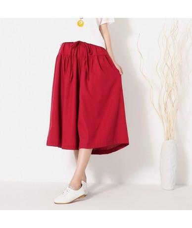 2019 new large size of cotton linen shorts skirts casual women shorts summer autumn girdle Elastic shorts skirts LJ2399 - wi...