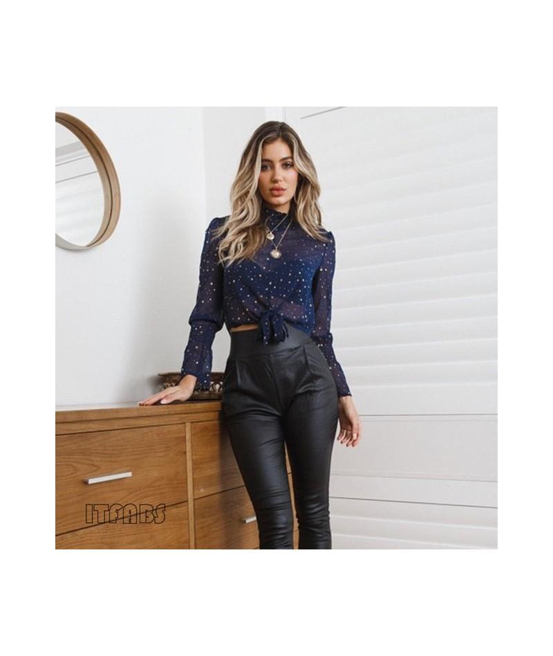 New Women Boho Beach Summer crop Tops Long Sleeve Floral Shirt polka dot harajuku Blouse Loose tumblr elegant blusas feminin...