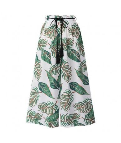 Summer Wide Leg Pants Womens Pants High Waist Loose Straight Ankle-Length Pants Womens Beach Wear Pants Large Size 6XL 8100 ...