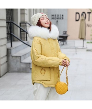 Women Winter Thickening Quilted Down Cotton Padded Jacket Coat Plus Size Inside Pockets Hooded Warm Short Parka Mujer Outwea...