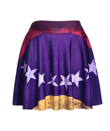 NEW 1101 Summer Sexy Girl Comics Detective batman Robin Printed Cheering Squad Tutu Skater Women Mini Pleated Skirt Plus Siz...