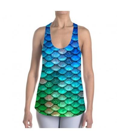 Fashion Mermaid Scale 3D Print Women Tank Top Camis Camisole Sleeveless Vest Fitness Slim Summer Tops Dropship - 5 - 4K30890...