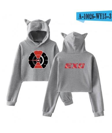 EXO Lomo Cat Ear Sweatshirt Kpop exo clothes Logo Harajuku Hoodies Women Fashion Winter/Autumn Casual Sweatshirts - gray - 4...