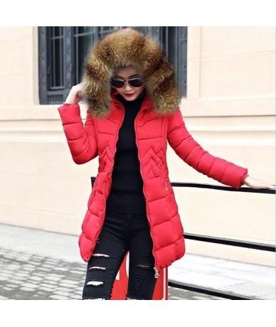Plus Size S-6XL Women Winter Coat Fake Fur Collar Woman Parka Long Outerwear Warm Down Jacket Winter Jacket Female Coat New ...