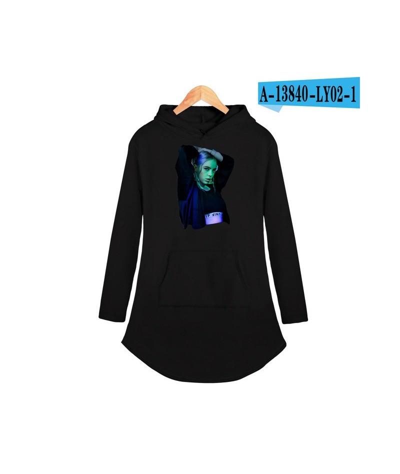 BILIE EILISH Street Hoodies Dress Hip Hop Popular fashion Basic casual comfortable cool kawaii Women Autumn/Winter Dress - b...