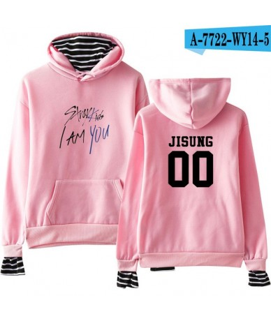 2018 Stray Kids I Am You Fans Fashion Warm Hoodies Cool Warm Fans Long Sleeve Sweatshirts Hoodies Women/Men Clothes - pink -...